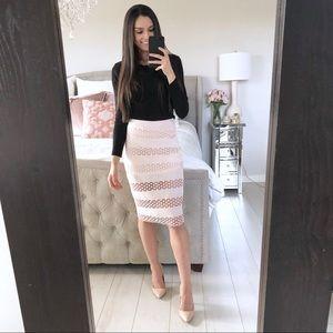 Blush Detailed Midi Skirt